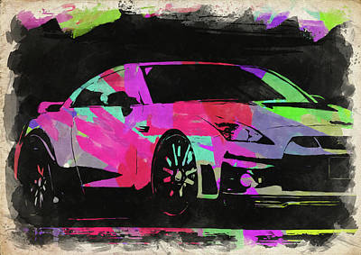 Photograph - Nissan Skyline Gtr Watercolor IIi by Ricky Barnard