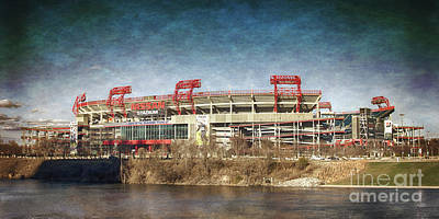 Franklin Tennessee Photograph - Nissan Stadium by Tom Gari Gallery-Three-Photography