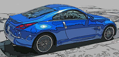 Nissan Z Car Art Print