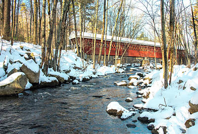 Photograph - Nissitissit Covered Bridge by Gordon Ripley