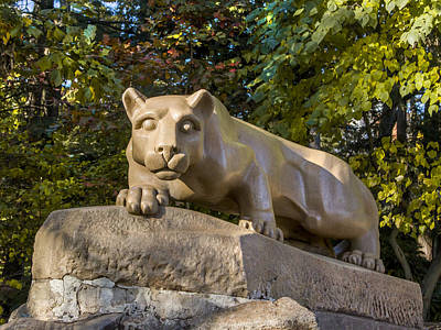 Nittany Lion Photograph - Nitany Lion In Fall by William Ames
