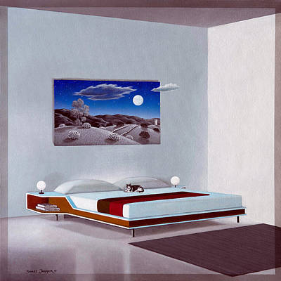 Mid Century Furniture Wall Art - Painting - Nite Flights by Snake Jagger