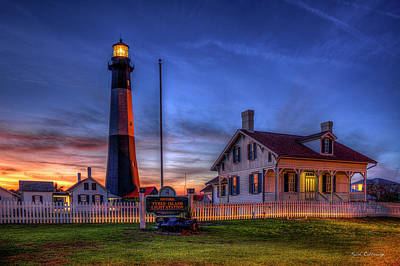 Photograph - Nite Light Tybee Island Lighthouse Art by Reid Callaway