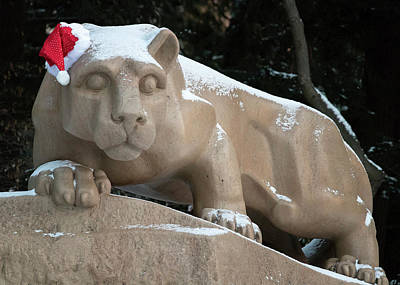 Photograph - Nittany Lion Christmas by Rusty Glessner