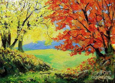 Painting - Nixon's Colorful View Of The Blue Ridge by Lee Nixon