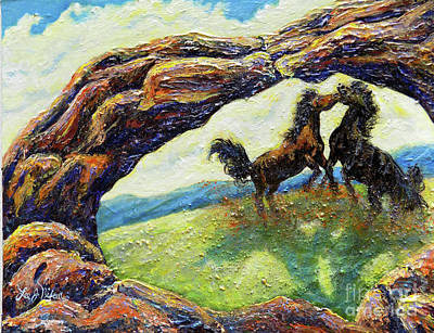 Painting - Nixon's Horsing Around by Lee Nixon