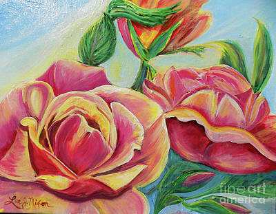 Painting - Nixon's Lovely Roses by Lee Nixon