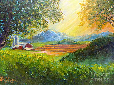 Painting - Nixon's Majestic Farm View by Lee Nixon