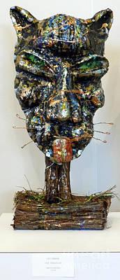 Sculpture - Nixon's One Tired Cat by Lee Nixon