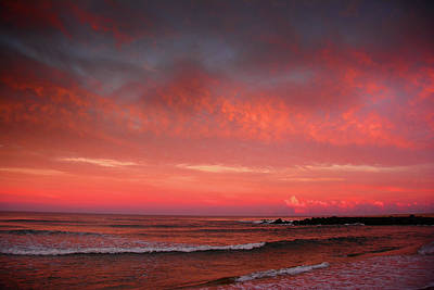 Photograph - Nj Beach Sunset 4 by Raymond Salani III