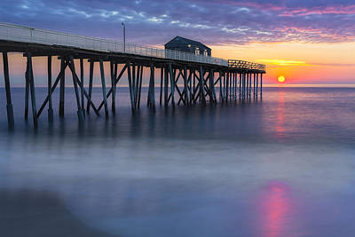Photograph - Nj Shore Pier Sunrise by Susan Candelario