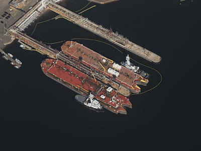Photograph - NJ Tankers by Daniel Corry