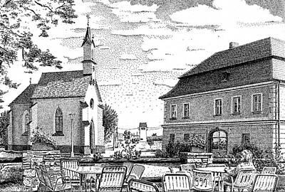 Ink Drawing - Gunderthausen Centre 3 Original