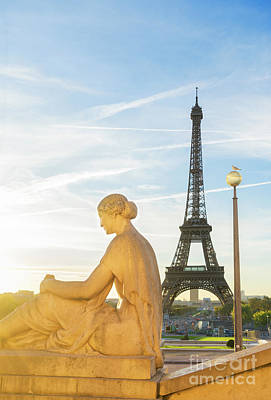 Photograph - Eiffel Tour And Sunrise by Anastasy Yarmolovich