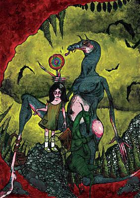 Bat Cave Mixed Media - No. 1 by Michael Coolbaugh