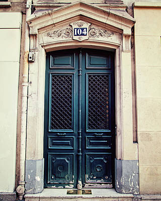 Photograph - No. 104 - Paris Doors by Melanie Alexandra Price