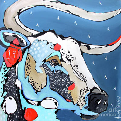 Painting - No. 19 Longhorn by Nicole Gaitan