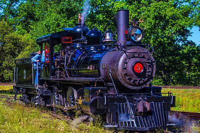 No 3 Photograph - No 3 Jamestown Steam Train by Garry Gay