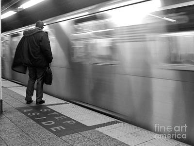 Photograph - No. 6 Coming In - Subways Of New York by Miriam Danar