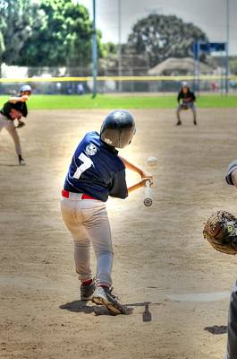 Photograph - No. 7 At Bat by Richard Omura