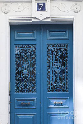 Photograph - No 7 Paris Blue Door by Ivy Ho