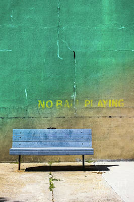 Photograph - No Ball Playing - Signs by Colleen Kammerer