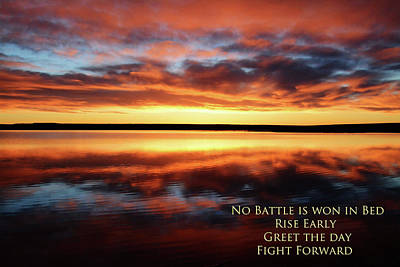 Photograph - No Battle Is Won In Bed by Whispering Peaks Photography