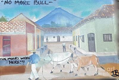 Liberal Painting - No Bul---l by Tony B Conscious