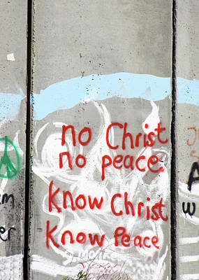 Photograph - No Christ No Peace by Munir Alawi