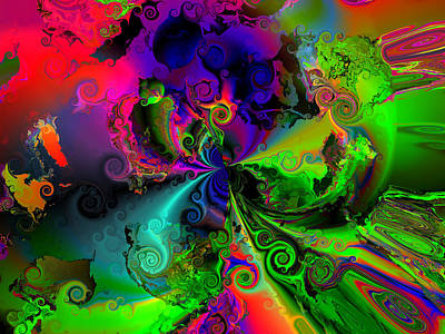 Contemporary Abstract Digital Art - No Cooperation by Claude McCoy