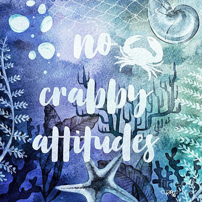 Painting - No Crabby Attitudes by Mo T