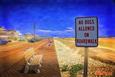 New Jersey Digital Art - No Dogs Allowed by Richard Hemingway
