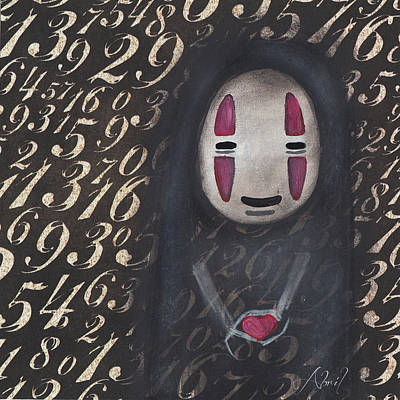 Painting - No Face With A Heart by Abril Andrade Griffith
