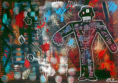Outsider Art Mixed Media - No Fear Of Perfection by Laura Barbosa