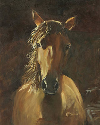 No Fences Quarter Horse Oil Painting By Kmcelwaine Original by Kathleen McElwaine