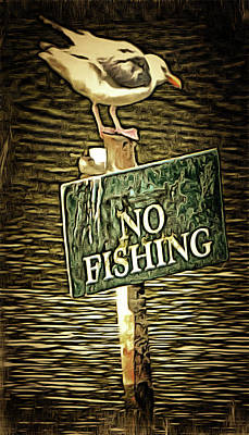 Photograph - No Fishing by Dorothy Berry-Lound