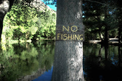 Photograph - No Fishing by Russell Pierce