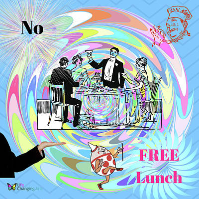 Digital Art - No Free Lunch by Steven Brier