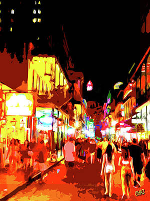 Painting - N.o. French Quarter At Night by CHAZ Daugherty