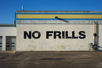 No Frlls Art Print by Bryan Scott