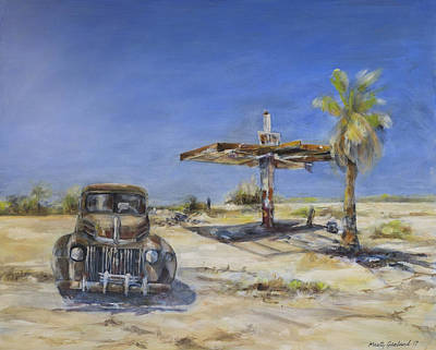 Painting - No Gas Here by Marty Garland