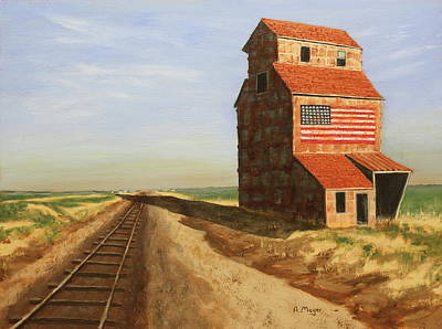Painting - No Grain, No Train by Alan Mager