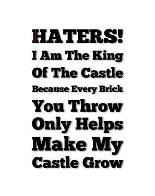 No Haters Here Art Print