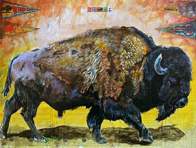 Yellowstone Mixed Media - No Home On The Range by Ben Pease