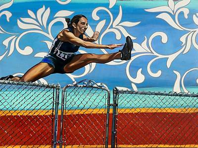 Wall Art - Painting - No Hurdle Is Too High by Clayton Singleton