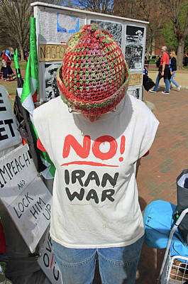 Photograph - No Iran War by Cora Wandel