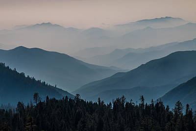 Photograph - Misty Blue Shades Of Generals Highway 2 by Patti Deters