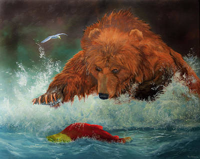 Sockeye Painting - No License Required by Dan Twitchell