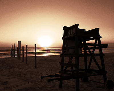 Photograph - No Lifeguard On Duty- Amber by Elyza Rodriguez