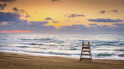 Art Print featuring the photograph No Lifeguard On Duty. by Gary Gillette